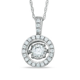 Unstoppable Love™ 1/3 CT. T.W. Diamond Frame Pendant in 10K White Gold