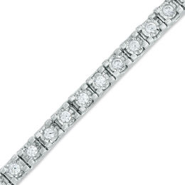 2 CT. T.W. Diamond Tennis Bracelet in Sterling Silver - 7.25""