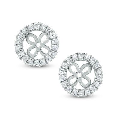 bfa5285ee 1/3 CT. T.W. Diamond Frame Earring Jackets in 14K White Gold ...
