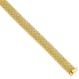 12.5mm Mesh Bracelet in 14K Gold - 7.25""
