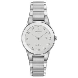 Ladies' Citizen Eco-Drive® Axiom Diamond Accent Watch with Silver Dial (Model: GA1050-51B)