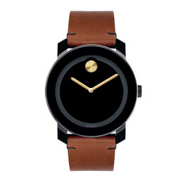 Men's Movado Bold Strap Watch with Black Dial (Model: 3600305)
