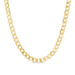 Men's 7.0mm Light Curb Chain Necklace in 14K Gold - 26""