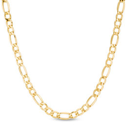 Men's 5.8mm Light Figaro Chain Necklace in 14K Gold - 24""