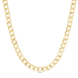 Men's 7.0mm Light Curb Chain Necklace in 14K Gold - 20""