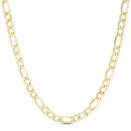 Men's 7.2mm Light Figaro Chain Necklace in 14K Gold - 26""