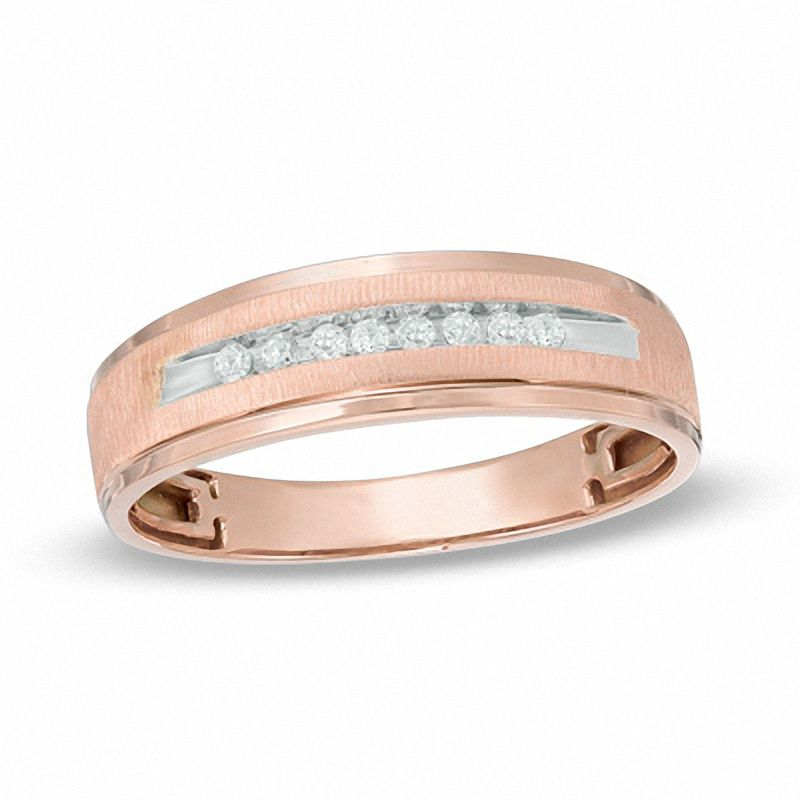 inlay bands wedding gold tungsten jewelry duke rose comfort mens cz black fashion fit with diamonds band collections ring