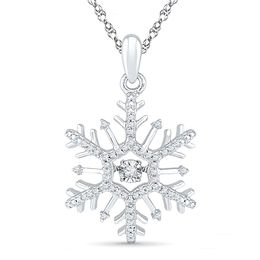 Unstoppable Love™ 1/6 CT. T.W. Diamond Snowflake Pendant in 10K White Gold