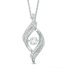 Unstoppable Love™ 3/4 CT. T.W. Diamond Open Flame Pendant in 10K White Gold