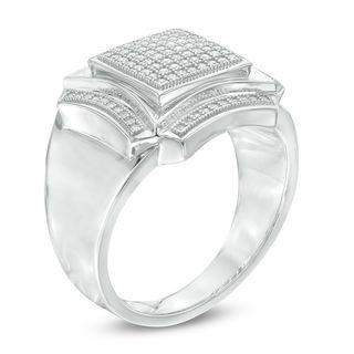 Shoptagr Men S 1 3 Ct T W Composite Diamond Square Frame
