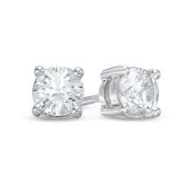 Celebration Grand® 1-1/6 CT. T.W. Diamond Solitaire Stud Earrings in 14K White Gold (H-I/I1)