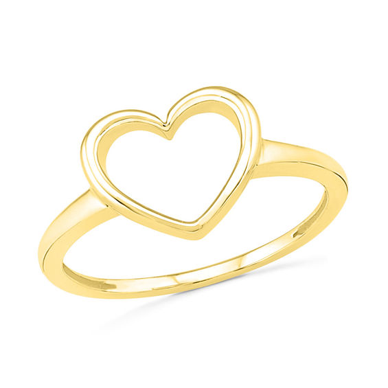 Heart Outline Ring in 10K Gold line Exclusives