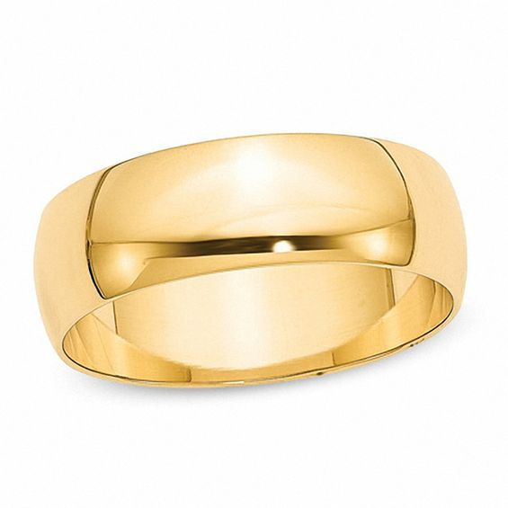 Mens 7.0mm Wedding Band in 14K Gold