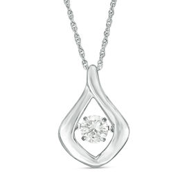 Unstoppable Love™ 1/2 CT. Diamond Solitaire Flame Pendant in 10K White Gold