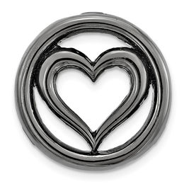 Stackable Expressions™ Small Heart Charm in Black Rhodium-Plated Sterling Silver