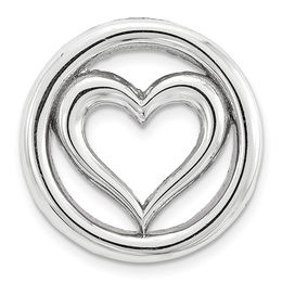 Stackable Expressions™ Small Heart Charm in Sterling Silver
