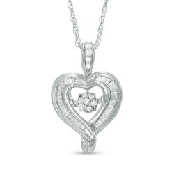 Unstoppable Love™ 1/6 CT. T.W. Diamond Heart Pendant in 10K White Gold