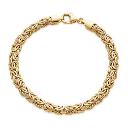 5.0mm Byzantine Chain Bracelet in 10K Gold - 7.5""