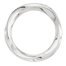 Stackable Expressions™ Swirl Circle Medium Slide Charm in Sterling Silver