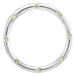 Stackable Expressions™ Peridot Circle Large Slide Charm in Sterling Silver