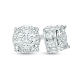 1 CT. T.W. Diamond Stud Earrings in 10K White Gold