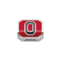 "Persona® Sterling Silver Red and Black Enamel ""OHIO STATE"" Charm"