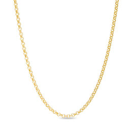 Men's 2.3mm Rolo Chain Necklace in 14K Gold - 30""