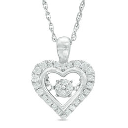Unstoppable Love™ 1/5 CT. T.W. Composite Diamond Frame Heart Pendant in Sterling Silver
