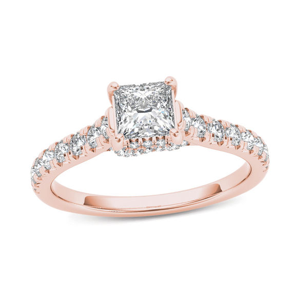 3/4 CT. T.W. Princess-Cut Diamond Engagement Ring In 14K