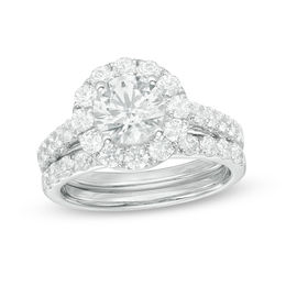 Celebration Grand® 2-1/2 CT. T.W. Diamond Frame Bridal Set in 14K White Gold (H-I/I1)