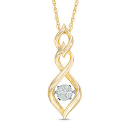 Unstoppable Love™ Diamond Accent Triple Twist Pendant in Sterling Silver with 14K Gold Plate