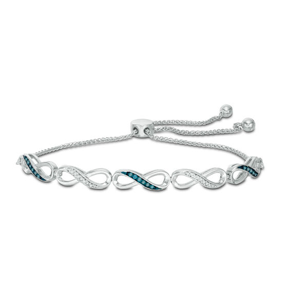Zales Blue Diamond Bracelet