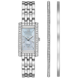 Ladies' Exclusive Citizen Eco-Drive® Crystal Accent Watch and Bangle Boxed Set (Model: EX1470-60D)