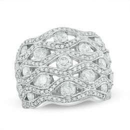 2-1/2 CT. T.W. Diamond Quilted Ring in 10K White Gold
