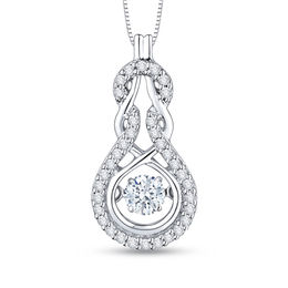 Unstoppable Love™ 1/4 CT. T.W. Diamond Intertwined Pendant in 10K White Gold