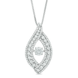 Unstoppable Love™ 1 CT. T.W. Diamond Open Flame Pendant in 14K White Gold