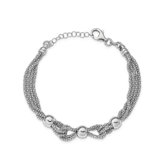 Zales Brushed Flat Circular Link Bracelet in Sterling Silver - 8.0 A8XuoC