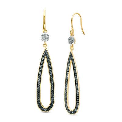 Natural Bi-Colour Agate Teardrop Earrings Choose Your Settings