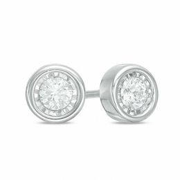 3/8 CT. T.W. Diamond Solitaire Stud Earrings in 10K White Gold