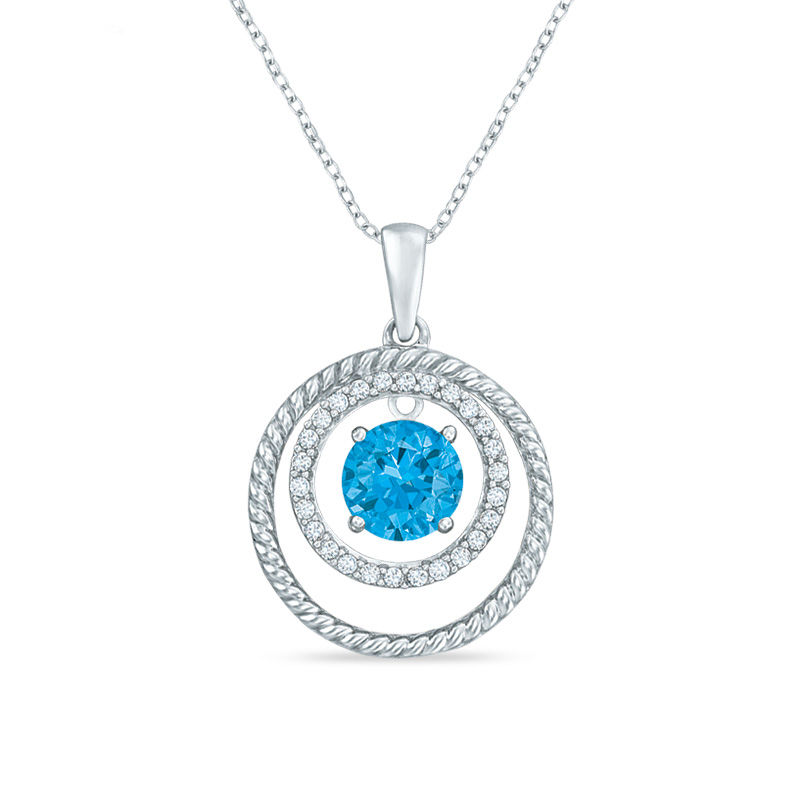 60mm swiss blue topaz and lab created white sapphire double circle 60mm swiss blue topaz and lab created white sapphire double circle pendant in sterling mozeypictures Image collections