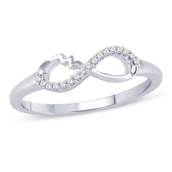 Zales Infinity Ring in Sterling Silver lY2JuDK