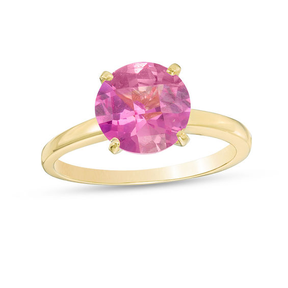 Zales 8.0mm Amethyst Solitaire Ring in 10K Gold gn8Ak