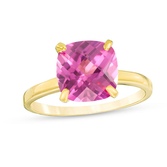Zales 8.0mm Cushion-Cut Amethyst Solitaire Ring in 10K Gold ecuP4IGsk