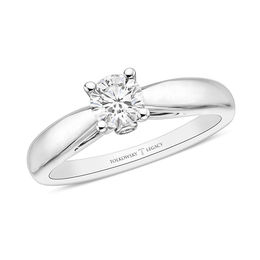 Tolkowsky® Legacy 1/2 CT. T.W. Certified Round-Cut Diamond Solitaire Engagement Ring in 14K White Gold (I/SI2)