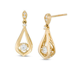Unstoppable Love™ 1/6 CT. T.W. Diamond Teardrop Earrings in 10K Gold