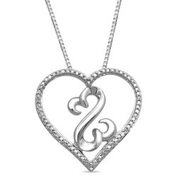 Open Hearts by Jane Seymour™ Diamond Accent Pendant in Sterling Silver