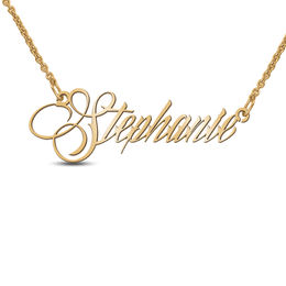 Scrolling Slant Name Necklace (1 Name)