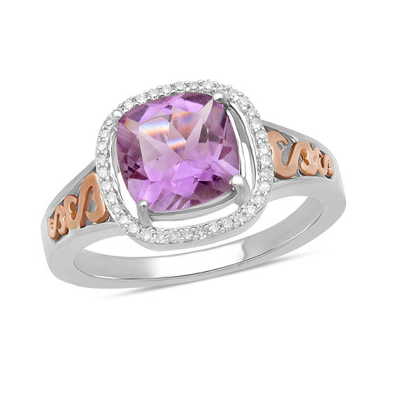 Open Hearts By Jane Seymour Cushion Cut Amethyst And 1 10