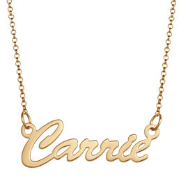 Cursive Name Necklace in Sterling Silver with 18K Gold Plate