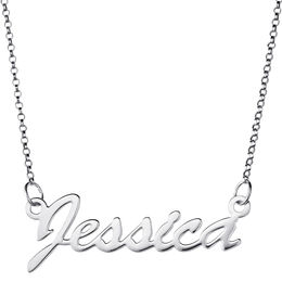 Script Name Necklace in Sterling Silver (1 Name)